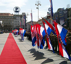 Croatian Flags during the Statehood Day (2007).jpg