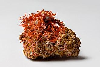 Crocoite - Crocoite from Dundas, Tasmania