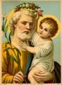 Cromolitogravura de São José e o Menino Jesus, aproximadamente de 1919.png