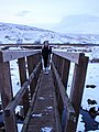 Crossing the footbridge over Little Dale Beck - geograph.org.uk - 1153014.jpg