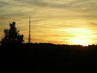 Croydon transmitting station - Croydon transmitter at sunset.