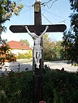 Crucifix near by Votive Chapel. - Külső római Street, Ófalu, Érd.JPG