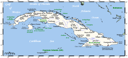 Geography Of Cuba Wikipedia - Major cities map of cuba