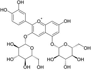 Cyanidin-3,5-O-diglucoside - Image: Cyanin
