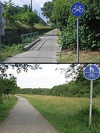 Cycleways NL (no sign 240) & DE (typically 240).jpg