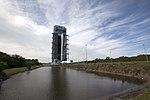 Cygnus CRS OA-6 Atlas V rocket rollout (25339534903).jpg