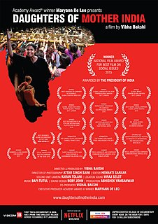 <i>Daughters of Mother India</i> 2015 documentary film directed by Vibha Bakshi