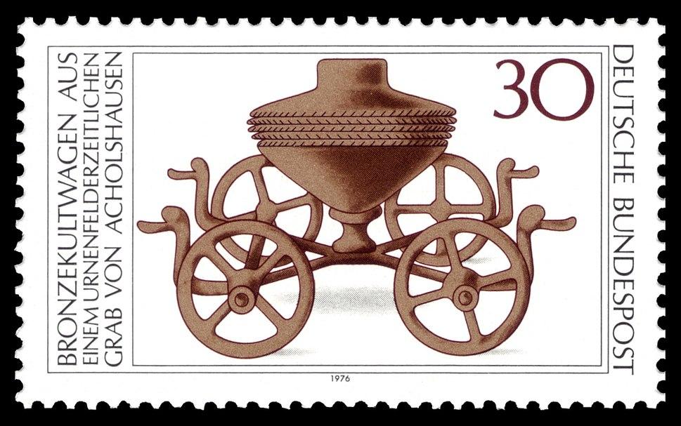 DBP - Bronzekultwagen - 30 Pfennig - 1976