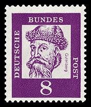Briefmarke der Deutschen Bundespost (1961) aus der Serie Bedeutende Deutsche. (Quelle: Wikimedia)