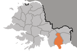 Location of Yonan County