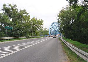 National road 85 (Poland) - Image: DROGA KRAJOWA nr 85 04 Most nad Wisłą