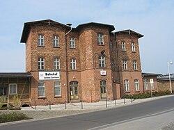 Deutsch: Bahnhof Luckau ZentrumEnglish: Station Luckau Zentrum