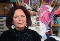 Dagmar Brand, Gründungsmitglied der Gruppe 7, Initiatorin der Winter - Gärten, Skulpturen in der Güntherstraße in Hannover, die Künstlerin hier in ihrem Werkatelier.jpg