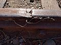 Damaged rail on Union Pacific tracks in Santa Cruz.gk.jpg