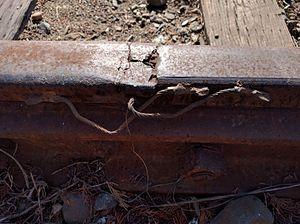 Rail inspection - Damaged rail