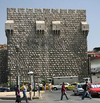 Citadel of Damascus - One of the bastions of the Citadel of Damascus protected by multiple bretèches