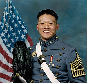 Dan Choi - Cadet Choi on his West Point graduation portrait, 2003