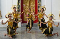 Dancing art Thai ancient show in the Wat Phra Thaen Sila At fair 02.jpg