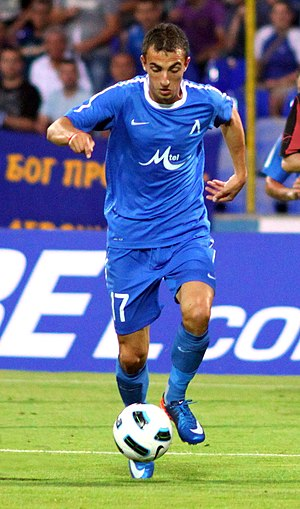 Daniel Mladenov - Mladenov playing for Levski Sofia in 2011