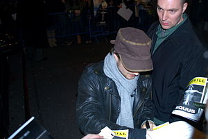 Equus (play) - Daniel Radcliffe arrives for a performance of Equus in 2008