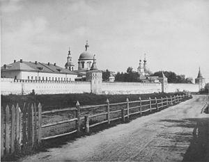Danilov Monastery - 19th-century view of the monastery