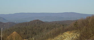 Allegheny Front - Dans Mountain, part of the Allegheny Front in Maryland