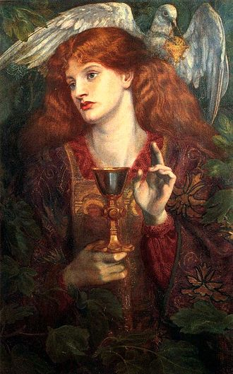Holy Grail - The Damsel of the Sanct Grael by Dante Gabriel Rossetti (1874)