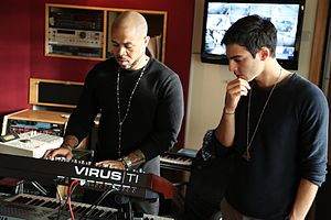 Darin Zanyar - Darin with producer Jim Beanz working on his album EXIT.