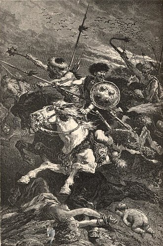 Barbarian - 19th century portrayal of the Huns as barbarians.