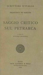 Saggio critico sul Petrarca