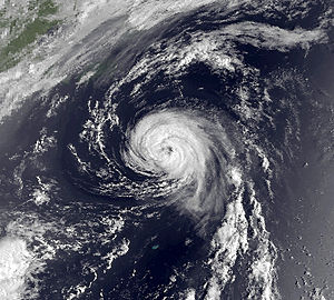 1989 Atlantic hurricane season - Image: Dean Aug 7 1989 1210Z