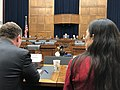 Deb Haaland testifying at a House Transportation and Infrastructure Committee meeting.jpg