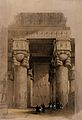 Decorated columns under the portico of the temple at Dendera Wellcome V0049347.jpg