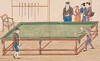 Dutch playing billards in Dejima.