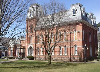 National Register of Historic Places listings in Delaware County, New York - Image: Delaware County Courthouse and Clerk's Office Apr 09