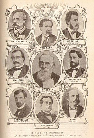 Agostino Depretis - Depretis first cabinet.
