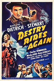 <i>Destry Rides Again</i> 1939 film by George Marshall