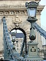 Detail of Szechenyi Chain Bridge - Buda Side - Budapest - Hungary.jpg