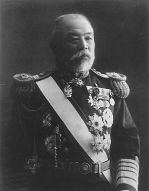 Dewa Shigetō - Portrait of Admiral Baron Dewa Shigetō from National Diet Library, Tokyo,