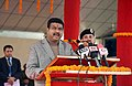 Dharmendra Pradhan addressing at the inauguration of the PNG supply to kitchens in the Campus of Border Security Force (BSF), in Chhawla, South West Delhi.jpg