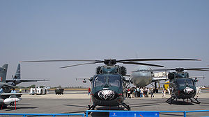 Hindustan Aeronautics Limited - HAL Dhruv helicopters of the Ecuadorian Air Force in 2009 Aero India
