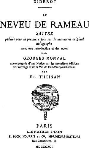 Rameau's Nephew - Image: Diderot Rameau Nephew