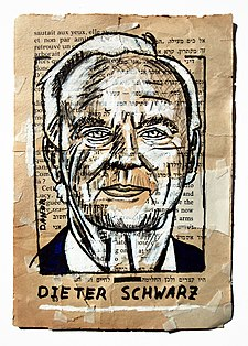 Dieter Schwarz Portrait Painting Collage By Danor Shtruzman.jpg