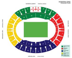 Boris Paichadze Dinamo Arena - Stadium blueprint