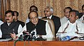 Dinesh Trivedi interacting with the media persons after presentation of Railway Budget 2012-13, in New Delhi. The Ministers of State for Railways.jpg