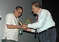 Director of the film'Nokpokliba' from Indian Panorama Meren Imchen being felicitated at the presentation of his film at IFFI 2007,Panaji,Goa on November 25,2007.jpg