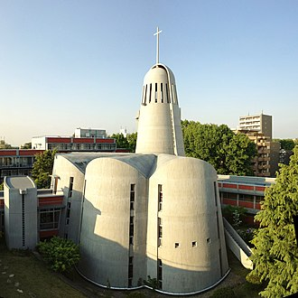 Nanzan University - The Divine Word Seminary Chapel, constructed in 1962 by Antonin Raymond