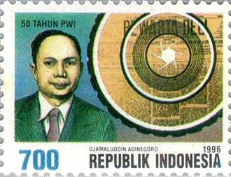Djamaluddin Adinegoro - Adinegoro on a 1966 stamp
