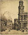 Donald Shaw MacLaughlan, Saint Sulpice, Paris - La Grande Tour, 1900.jpg