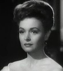 L'actriz estatounitense Donna Reed, en una scena d'a cinta The Picture of Dorian Gray (1945).